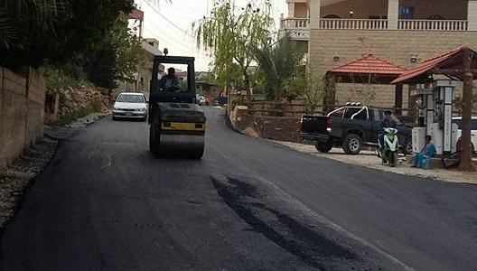 تعبيد طريق حارة المحطة ( طريق صديقين - رشكنانية )